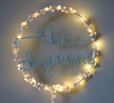 If you have a longer name, or 2 little people sharing a room our personalised fairy light hoop with name split over 2 lines is a perfect solution The fairy light hoop is a combination of 20 lights, wrapped with pompoms and fine metallic threads and a name of up to 8 characters per line wrapped in wire. #lights #fairylights #handcrafted #roomdecorideas Modern Kids Bedroom, Shelfie, Metallic Thread, Little People, Fairy Lights, Wall Hooks, Kids Rooms, String Lights, Hoop