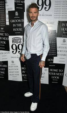 Best of British: David Beckham called an end to his Stateside party hopping on Wednesday as he returned to London to launch his grooming brand House 99 at Harvey Nichols
