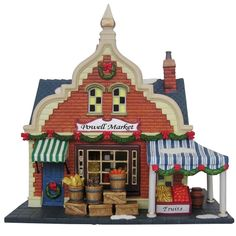 "Heartland Village 9"" Porcelain Village Building Powell Market ($31.99 Ace Hardware)"