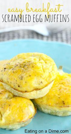 I have an Easy breakfast idea - Scrambled Egg Muffins -my kids love them!
