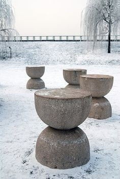 """Reality lies in the essence of things, and not their external forms. """" - Brancusi. Noguchi later wrote that Brancusi's exhibition made him feel """"that everything I had done in my work was false. It filled me with longing to seek after my own true identity."""" -Isamu Noguchi"""
