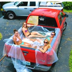 No pool? No problem. My friends did this with a tarp and loved it :)