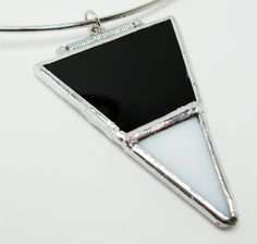 Stained Glass Pendant - Black and White . Starting at $10 on Tophatter.com!