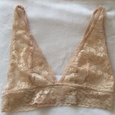 Nude Lace Bralette Nwt