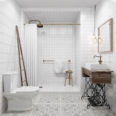 Minimalist bathroom design with white color.... | Visit : roohome.com  #bath #bathroom #design #decoration #amazing #awesome #gorgeous #fabulous #unique #simple #creative #interior #elegant