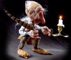 ~ Musings of an Artist: Art Dolls by Jill Willich Forest Creatures, Woodland Creatures, Magical Creatures, Elves And Fairies, Clay Fairies, Art Beauté, Artist Art, Dragons, Decoration Vitrine
