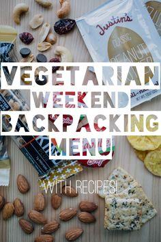 Vegetarian Weekend Backpacking Menu... with recipes! Soba noodles and mac n cheese look good
