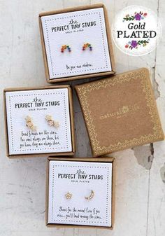 This Natural Life Perfect Tiny Studs features Gold plated earring stud set, with rhinestones accents. Gifts For Teens, Gifts For Mom, Tiny Earrings, Wood Crosses, Get Happy, Dainty Jewelry, Boho Jewelry, Box Signs, Tiny Treasures