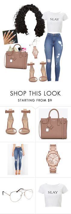 """9/5/16"" by xqveentracix on Polyvore featuring Gianvito Rossi, Yves Saint Laurent and Michael Kors"