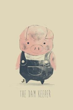 Pig from The Dam Keeper by Janice Chu for Sketch Dailies