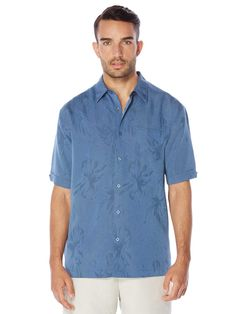 #FashionVault #perry ellis #Men #Tops - Check this : Cubavera Short Sleeve Floral Jacquard Pocket Shirt for $59.99 USD