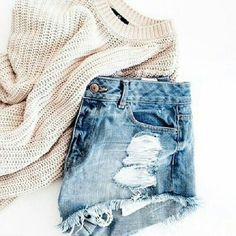 sweater + shorts - outfits