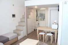 Vacation Rentals, Homes, Experiences & Places – Airbnb – Loft İdeas 2020 Korean Apartment Interior, Seoul Apartment, Duplex Apartment, Apartment Layout, Apartment Design, Apartment Living, Tiny Apartments, Tiny Spaces, Loft Spaces