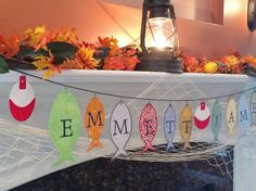 ADORABLE fishing themed banner! What a fun baby shower idea!