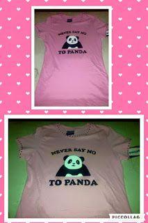 camiseta pintada a mano de oso panda