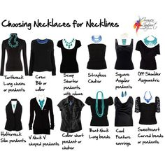 choosing necklaces for necklines - Google Search