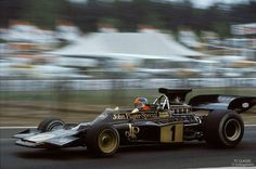 Emerson Fittipaldi (BRA) (John Player Special Team Lotus), Lotus 72E Zolder, 1973.