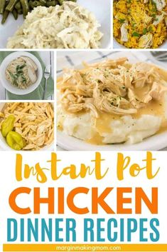 These Instant Pot chicken recipes for dinner are the perfect way to press the easy button on a busy weeknight! Whether you want comfort food or lighter fare, we've got you covered! Pressure Cooker Chicken, Instant Pot Pressure Cooker, Pressure Cooker Recipes, Dinner Dishes, Food Dishes, Main Dishes, Dinner Recipes, Easy Weeknight Meals, Quick Easy Meals