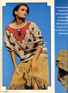 "Photo from album ""Verena № on Yandex. Intarsia Knitting, Knitting Charts, Views Album, 90s Fashion, Crochet, Knitwear, Nostalgia, Vintage Outfits, Sari"