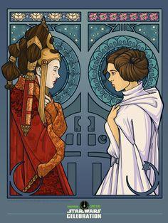 Geek Art Gallery: Posters: Star Wars Nouveau