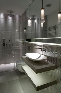 Modern grey bathrooms ultra modern grey bathroom inspiration modern bathroom ideas grey and white . Grey Bathrooms Designs, Contemporary Bathroom Designs, Modern Bathrooms, Modern Design, Contemporary Bathroom Inspiration, Custom Bathrooms, Contemporary Homes, Master Bathrooms, Small Bathrooms