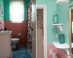 Pink Tile Bathroom Decorating Ideas Inspirational Pink Tile Bathroom Ideas Remodel and Decor Pink Bathroom Tiles, White Bathroom Decor, Pink Tiles, Boho Bathroom, Small Bathroom, Bathroom Corner Cabinet, Tiny House Bathtub, Bathroom Pictures, Bathroom Ideas