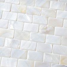 Shore Random Sized Seashell Pebble Tile in White