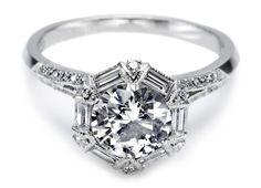Beautiful Round Diamond Engagement Ring - Tacori