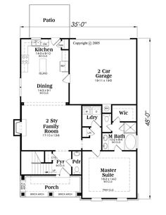 First Floor of Plan ID: 54238