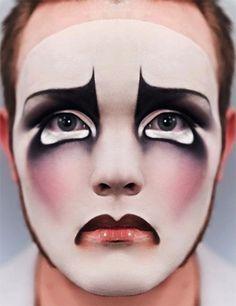 Beautiful Mime Face | Im still loving the sad clown looks @Sam McHardy McHardy McHardy ...