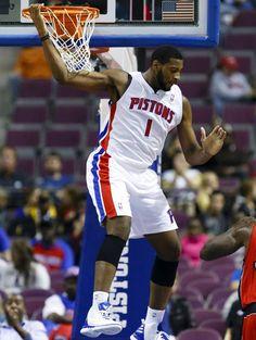 Andre Drummond - Detroit Pistons (PF) Detroit Basketball, Detroit Sports, Basketball Players, Andre Drummond, Toronto Raptors, Detroit Pistons, Nba Players, Aba, Bad Boys