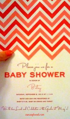 Free Customized Printable Chevron Shower Invite