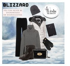 """Blizzard proof"" by basja ❤ liked on Polyvore featuring Andrew Marc, Diane Von Furstenberg, 1205, Mulberry, Charlotte Russe, Acne Studios, Moncler, women's clothing, women's fashion and women"