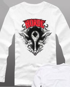 World of Warcraft horde t shirt for men WOW game XXXL-