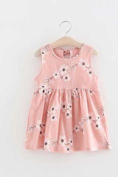 Summer Toddler Girl Dresses A-Line Dress Sleeveless Floral Printed Kid Princess Party Dance Evening Dress Outfits, Kids Outfits, Dress Clothes, Casual Dresses, Matching Family Outfits, Toddler Girl Dresses, Baby Outfits Newborn, Dress Backs, Latest Fashion For Women