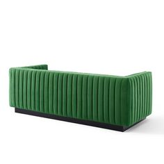 Modway Velvet Sofa EEI3885EME Emerald   Appliances Connection Velvet Tufted Sofa, Upholstered Sofa, Seat Cushion Foam, Love Wall Art, Inexpensive Furniture, Dining Table Chairs, Vintage Glamour, Fabric Sofa, The Conjuring
