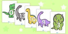 Numbers on Dinosaurs - Foundation Numeracy, Number recognition, Number… Dinosaurs Preschool, Dinosaur Activities, Preschool Themes, Preschool Learning, Teaching, Dinosaur Projects, Dinosaur Crafts, Dinosaur Small World, Happy Birthday Illustration