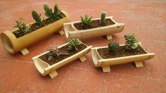 artesania en bambu Jardineras - luz de lis
