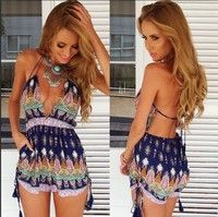 Wish | Fashion Women sexy jumpsuit High Waist Gorgeous backless Playsuit Shorts Rompers