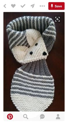 Allungare i bambini /Toddler regolabile Fox di QuiltNCrochet schals stricken Stretch Kids /Toddler Adjustable Fox Stripe Scarf Hand Knit scarf / Neck warmer Teal or Gray Baby Knitting Patterns, Knitting For Kids, Loom Knitting, Knitting Projects, Crochet Projects, Hand Knitting, Crochet Patterns, Fox Scarf, Baby Scarf