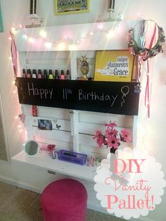 Vanity Made From Pallet