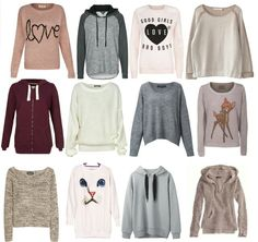 ADORABLE sweaters for the fall.