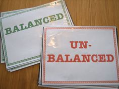 This is a great example of a quick Formative Assessment : Survey the class to check their understanding of balanced equations. This can be used with other concepts, change the wording in the signs to fit indicator. High School Chemistry, Teaching Chemistry, Chemistry Lessons, Science Chemistry, Middle School Science, Physical Science, Science Lessons, Chemistry Basics, Chemistry Experiments