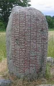 The Kjula runestone. Many of these rune stones would list some names of vikings who had participated on an expedition. The Kjula runestone tell of an extensive warfare in Western Europe.