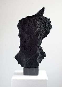 "guy rusha  Large Sponge Sculpture    2011  Oil on sponge & wood  23x12x10"" / 58.4x30.5x25.4cm  GR023"
