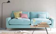 <3 this pastel cushions and sofa combo