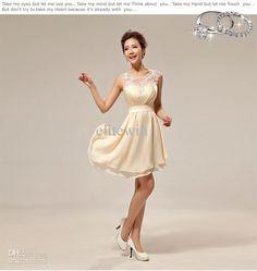 Wholesale High Quality Bridesmaid Dress Evening Wedding Dresses Silk Lace Slim Sexy Zipper Knee Length, Free shipping, $87.36-89.04/Piece | DHgate