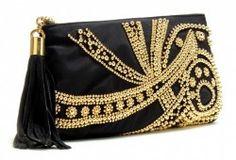 EMILIO PUCCI Embellished Tassel Clutch Black/Gold $1150  http://hollyrotic.mybigcommerce.com/emilio-pucci-embellished-tassel-clutch-black-gold-1150/