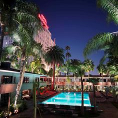 The Tropicana Bar and Pool at the Hollywood Roosevelt in Los Angeles