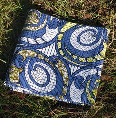 African Wax Cotton Print Fabric - Ankara Fabric - Down the Drain - Half Yard. $4.99, via Etsy.